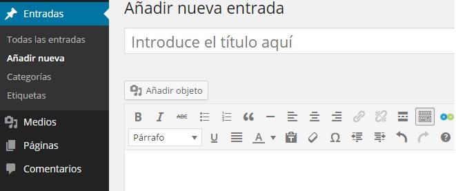 Añadir nueva Entrada WordPress