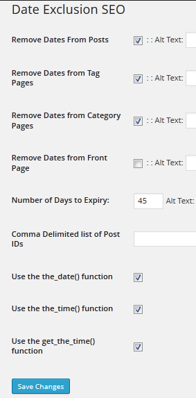 Date Exclusion SEO WordPress plugin