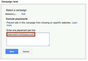 Cómo evitar que tus anuncios de Adwords salgan en APPS