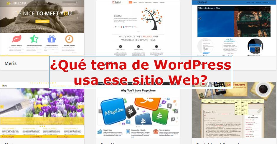 Cuál es ese tema de WordPress