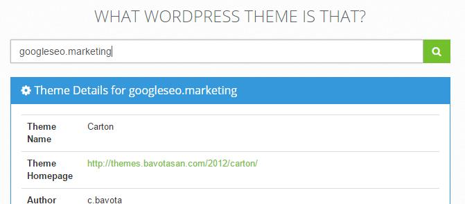 Saber qué tema de WordPress usa una página web