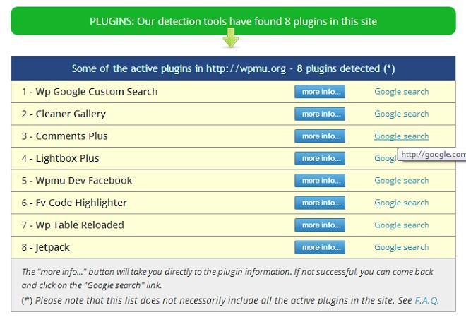 Detectar plugins de otras páginas