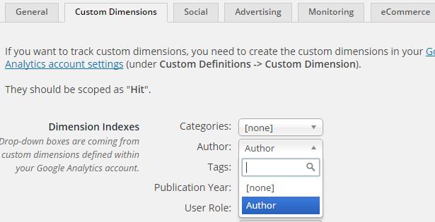 Dimensión Personalizada WordPress