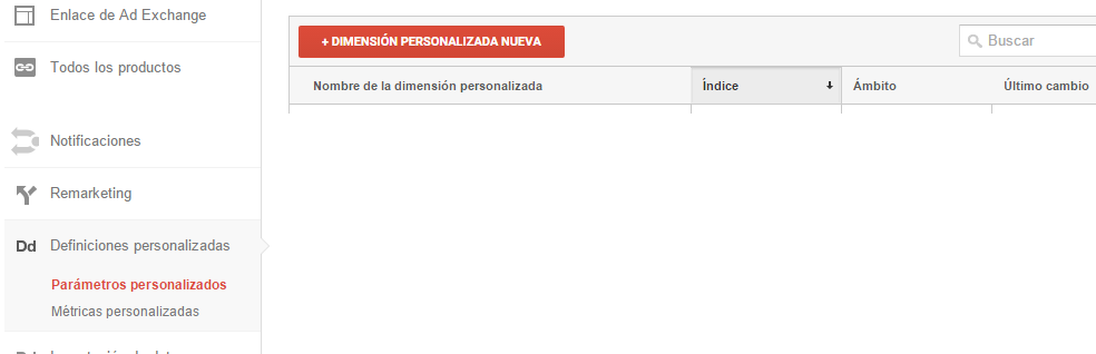 Parámetros Personalizados Analytics
