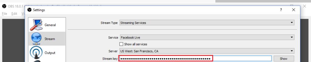 Configurar OBS Facebook Live