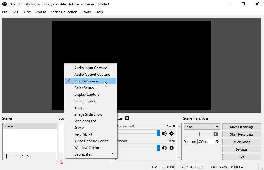 Configurar OBS Streaming