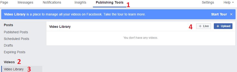 Crear Facebook Live Post