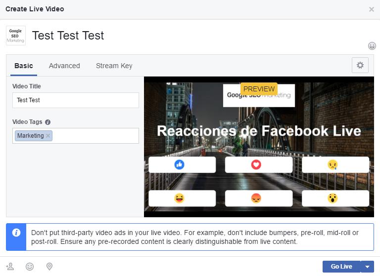 Encuestas en directo Facebook - Contador de reacciones