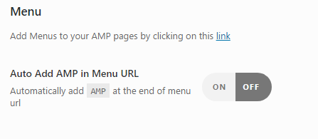 URLs AMP WordPress