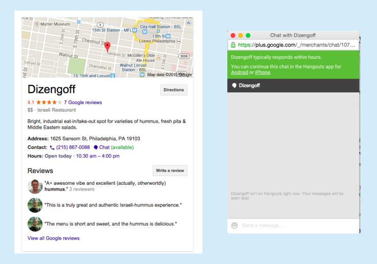 Chat de Google Places