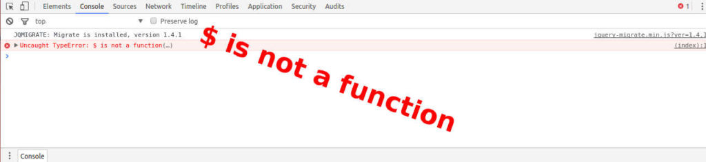 $ is not a function
