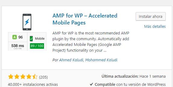 Mejor plugin AMP WordPress