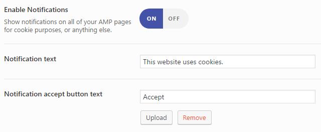 Avisos AMP WordPress