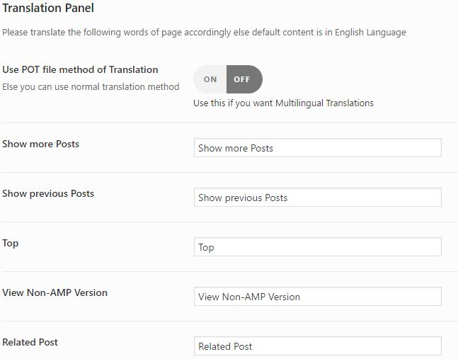 Idiomas Google AMP WordPress
