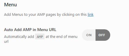 URLs AMP WordPress