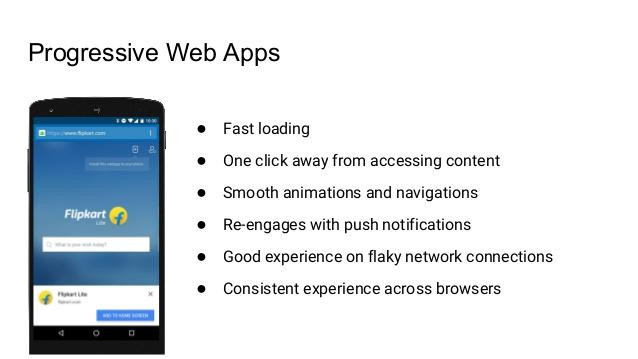 ventajas de web app progresivas