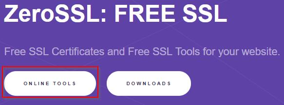 Certificado SSL gratis con Zerossl