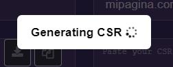 Generar CSR SSL