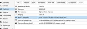 Cómo incrementar el tamaño de una partición de disco duro en Debian + Proxmox
