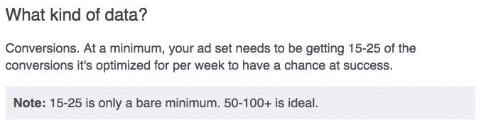 Facebook Help Center conversiones